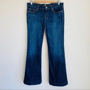 7 For All Mankind Dojo Jeans Flare Dark Wash Sz 32